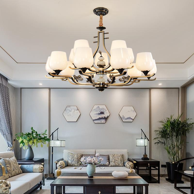 新中式吊灯客厅灯2020新款中国风全铜禅意LED灯具QG6029